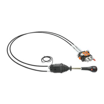 Distribuitor hidraulic cu joystick, lungime cablu 2m presiune 250 bar debit 40L/min