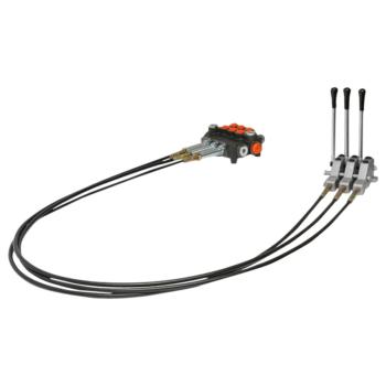 Distribuitor hidraulic cu 3 manete, lungime cablu 2.5m presiune 250