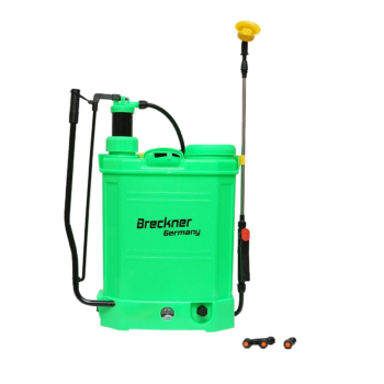 Pompa de stropit 2 in 1 manuala si electrica rezervor 16L baterie 12V 8Ah debit 3.1 l.min